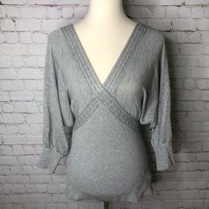 Bebe Gray Dolman Sweater